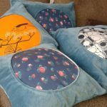vintage dresses turned into cushions